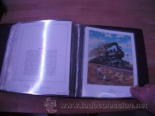 Sellos: LEGENDARY LOCOMOTIVES OF THE 50 STATES FINE ART PRINTS 1994 TREN FERROCARRIL locomotora (Ver Video) - Foto 21 - 44960991