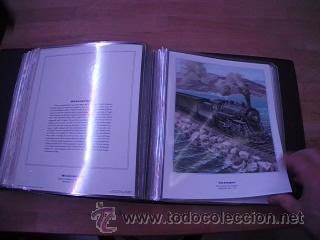 Sellos: LEGENDARY LOCOMOTIVES OF THE 50 STATES FINE ART PRINTS 1994 TREN FERROCARRIL locomotora (Ver Video) - Foto 25 - 44960991