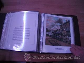 Sellos: LEGENDARY LOCOMOTIVES OF THE 50 STATES FINE ART PRINTS 1994 TREN FERROCARRIL locomotora (Ver Video) - Foto 27 - 44960991