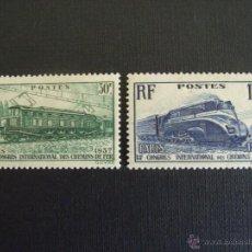 Sellos: FRANCIA Nº YVERT 339/0*** AÑO 1937. 13 CONGRESO DE FERROCARRILES, EN PARIS. Lote 49883974