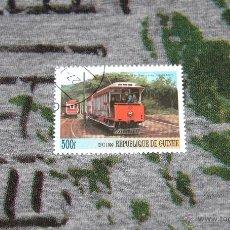 Sellos: SELLOS DE TRANVÍAS - TRAMWAY A LA GARE LAXEY (ISLE OF MAN) - REPUBLIQUE DE GUINEE - OPG 1999. Lote 50416234