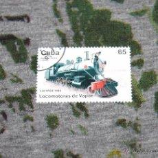 Sellos: SELLOS DE LOCOMOTORAS - BALDWIN 4-6-0 (1906) - LOCOMOTORAS DE VAPOR - CUBA - CORREOS 1996. Lote 50416270