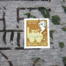 Sellos: SELLOS DE LOCOMOTORAS - G. STEPHENSON 1781-1848 - MAGYAR POSTA 1981. Lote 50416308