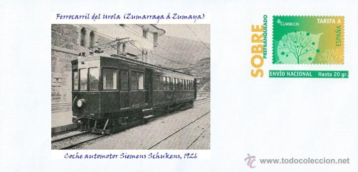 ESPAÑA, 2015 FERROCARRIL DEL UROLA (ZUMARRAGA Á ZUMAYA) COCHE AUTOMOTOR SIEMENS SCHUKENS, 1926 (Sellos - Temáticas - Trenes y Tranvias)