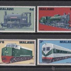 Sellos: MALAWI 84/87** - AÑO 1968 - TRENES - LOCOMOTORAS DE MALAWI RAIWAYS. Lote 53510007