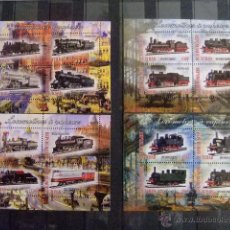 Sellos: REPUBLIQUE DU TCHAD 2013 LOCOMOTORAS A VAPOR - TREN NUEVOS ** MNH. Lote 53875052