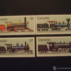 Sellos: CANADA 1984 IVERT 895/8 *** LOCOMOTORAS CANADIENSES (II) - TRENES. Lote 54285150