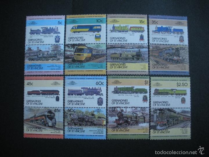 GRANADINAS DE SAN VICENTE 1984 IVERT 295/310 *** LOCOMOTORAS (I) - TRENES (Sellos - Temáticas - Trenes y Tranvias)