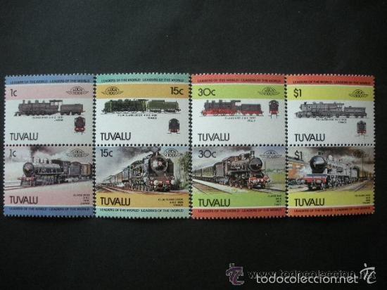 TUVALU 1984 IVERT 259/66 *** LOCOMOTORAS - 3ª SERIE - TRENES (Sellos - Temáticas - Trenes y Tranvias)
