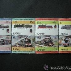 Sellos: TUVALU 1984 IVERT 259/66 *** LOCOMOTORAS - 3ª SERIE - TRENES. Lote 58179294