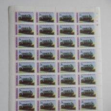 Sellos: PLIEGO. NICARAGUA 1978 - 100 ANIVERSARIO FERROCARRIL - TRENES. LOCOMOTORA DE PASAJEROS Y CARGA 4-6-0. Lote 86723456