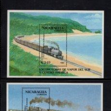 Sellos: NICARAGUA HB 202/03** - AÑO 1991 - TRENES - FERROCARRILES DE AMERICA CENTRAL. Lote 87103112