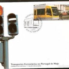 Sellos: PORTUGAL & FDC TRANSPORTES FERROVIÁRIOS PORTUGAL, LISBOA 1995 (2299). Lote 94690799