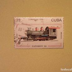 Sellos: CUBA 1996 - ESPAMER 98 - TRENES Y LOCOMOTORAS. Lote 94747815