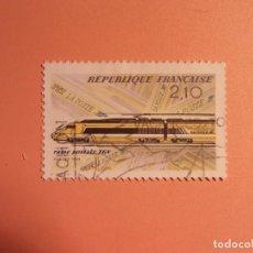 Sellos: FRANCIA - TRENES Y TRANVÍAS - RAINE POSTALE TGV - LA POSTE - CORREOS. Lote 98823363