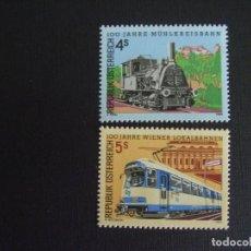 Sellos: AUSTRIA Nº YVERT 1745/6*** AÑO 1988, TRENES. Lote 105858883