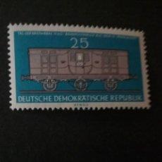 Sellos: SELLOS DE LA R. D. ALEMANA (DDR) NUEVO. 1960. TRENES. CORREOS. VAGON POSTAL. TRANSPORTE. MAQUINAS.. Lote 106075195