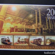 Sellos: ST VINCENT GRENADINES 2004 TRAINS 200 YEARS YVERT 4818 A / 18 D ** MNH. Lote 109573807