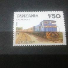 Sellos: SELLOS DE R. UNIDA TANZANIA NUEVOS. 1985. TRENES. LOCOMOTORAS. TRANSPORTES. RAILES. VAGONES.. Lote 110820498