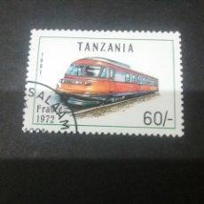 Sellos: SELLOS DE R. UNIDA TANZANIA MTDOS. 1991. LOCOMOTORA FRANCESA. TRENES. TRANSPORTES.. Lote 110834358