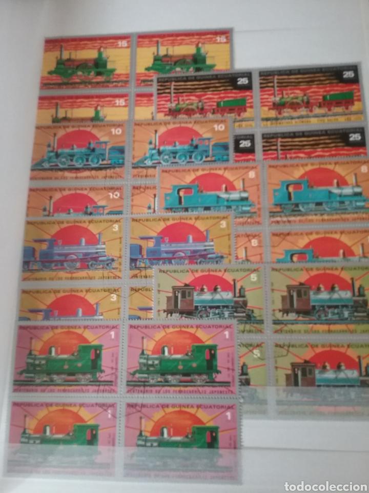 Sellos: SOBRE RAILES (I). Clasificador (6Hojas) Tematico. Trenes. Locomotoras. Ferrocarriles. Hay que verlo! - Foto 3 - 114001404