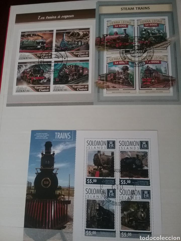 Sellos: SOBRE RAILES (I). Clasificador (6Hojas) Tematico. Trenes. Locomotoras. Ferrocarriles. Hay que verlo! - Foto 4 - 114001404