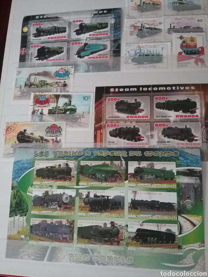 Sellos: SOBRE RAILES (I). Clasificador (6Hojas) Tematico. Trenes. Locomotoras. Ferrocarriles. Hay que verlo! - Foto 6 - 114001404