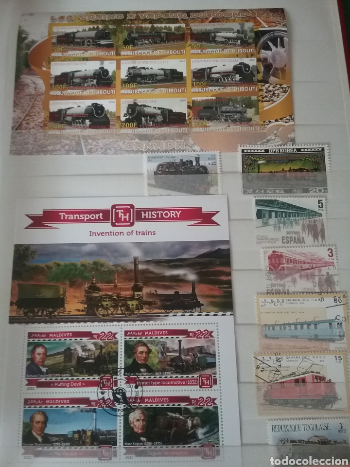Sellos: SOBRE RAILES (I). Clasificador (6Hojas) Tematico. Trenes. Locomotoras. Ferrocarriles. Hay que verlo! - Foto 7 - 114001404