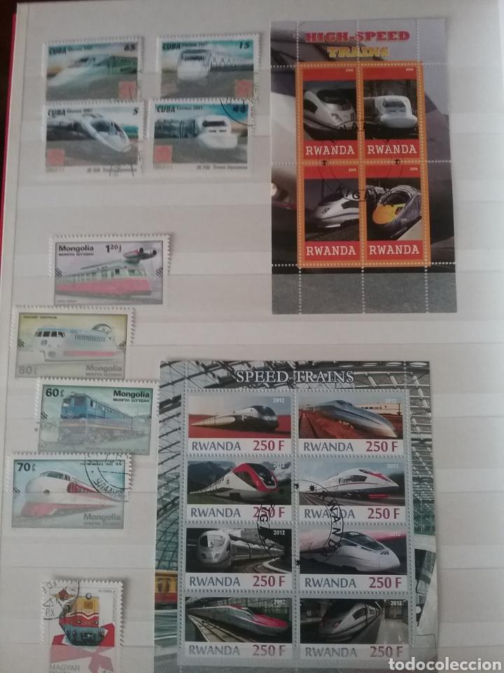 Sellos: SOBRE RAILES (I). Clasificador (6Hojas) Tematico. Trenes. Locomotoras. Ferrocarriles. Hay que verlo! - Foto 12 - 114001404