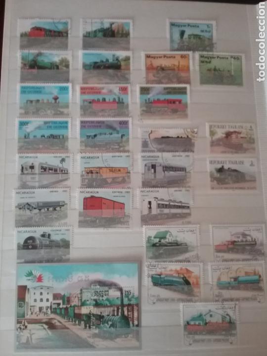 Sellos: SOBRE RAILES (I). Clasificador (6Hojas) Tematico. Trenes. Locomotoras. Ferrocarriles. Hay que verlo! - Foto 8 - 114001404