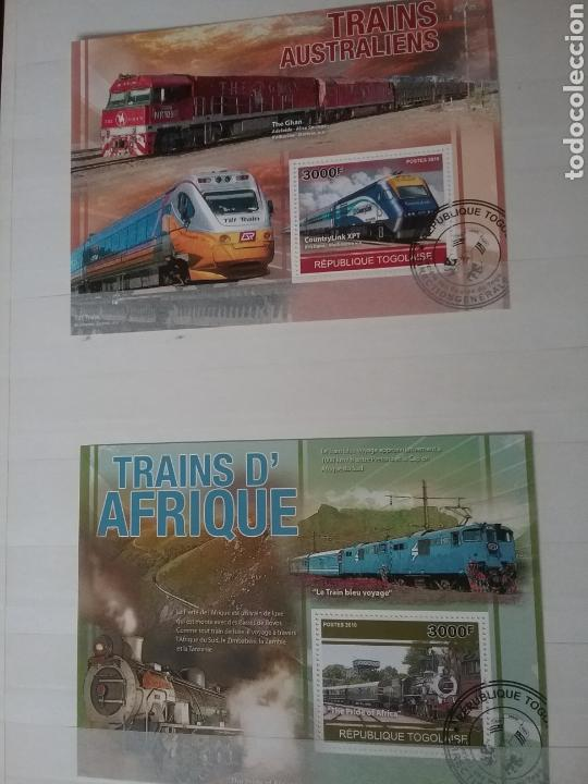 Sellos: SOBRE RAILES (I). Clasificador (6Hojas) Tematico. Trenes. Locomotoras. Ferrocarriles. Hay que verlo! - Foto 10 - 114001404