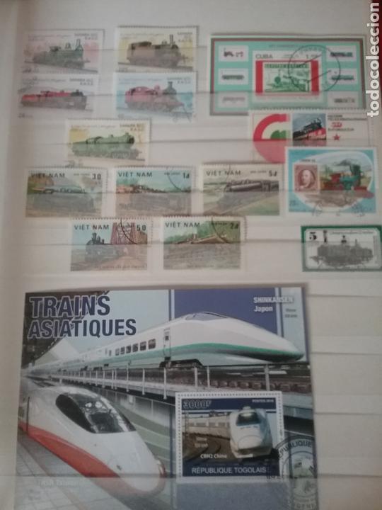 Sellos: SOBRE RAILES (I). Clasificador (6Hojas) Tematico. Trenes. Locomotoras. Ferrocarriles. Hay que verlo! - Foto 11 - 114001404
