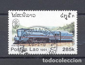 LAOS, TRENES (Sellos - Temáticas - Trenes y Tranvias)