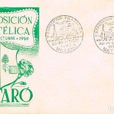 Sellos: AÑO 1958, 150 ANIVERSARIO DEL FERROCARRIL DE MATARO, SOBRE DE GOMIS . Lote 124176503