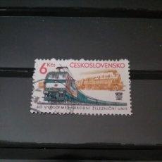 Sellos: ELLOS DE CHECOSLOVAQUIA MTDOS (USADOS).1982. FERROCAREILES. TRENES. LOCOMOTORAS. TRANSPORTE. ANIVER. Lote 124600682