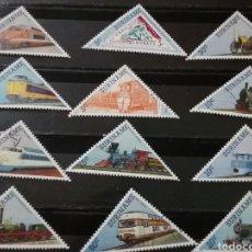 Sellos: SELLOS R. SURINAM (SURINAME) MTDOS. 1985. LOCOMOTORAS. MAQUINA VAPOR. TRENES. TRANSPORTES.. Lote 131377785