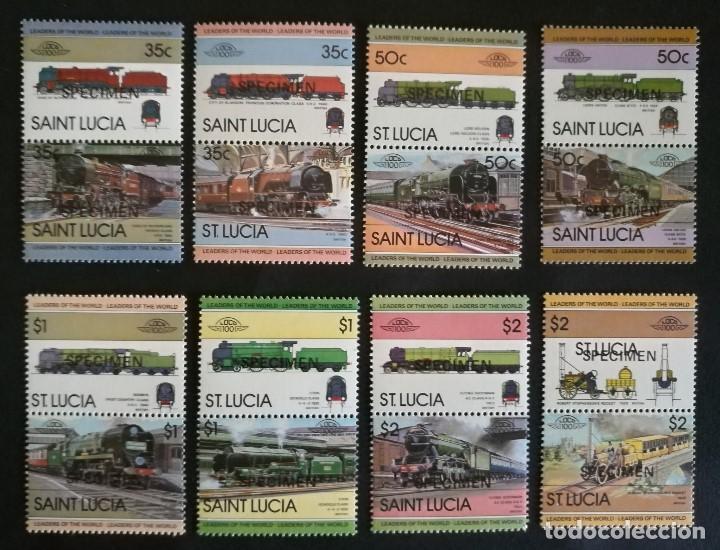 SELLOS SANTA LUCIA TRENES / LOCOMOTORAS SPECIMEN (Sellos - Temáticas - Trenes y Tranvias)