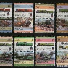 Sellos: SELLOS SANTA LUCIA TRENES / LOCOMOTORAS SPECIMEN. Lote 131918498
