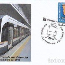 Sellos: AÑO 2009, 15 AÑOS DEL TRANVIA EN VALENCIA, MATASELLO DE VALENCIA. Lote 133338330