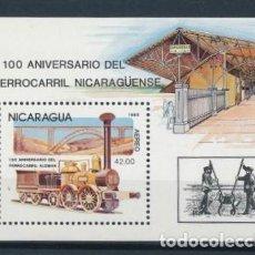 Sellos: SELLO NICARAGUA 1985 Y&T BF 173** 100 ANIVERSARIO DEL FERROCARRIL NICARAGÜENSE. Lote 137007978