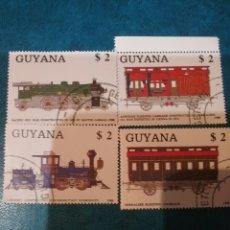 Sellos: HB DE GUAYANA (GUYANA) MTDOS/1989/TRENES/LOCOMOTORAS/RAILES/ESTACIONES/FERROCARRILES/VAPOR. Lote 142894902