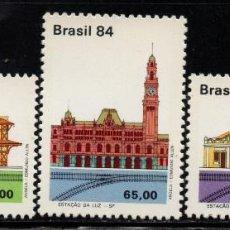 Sellos: BRASIL 1678/80** - AÑO 1984 - TRENES - PATRIMONIO FERROVIARIO. Lote 143163418
