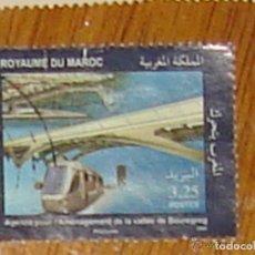 Sellos: MARRUECOS EN MOVIMIENTO (2008). TRANVÍA. YVERT 1498. USADO.. Lote 143398966