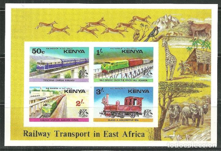 KENYA 1976 HB IVERT 2 *** TRASPORTES FERROVIARIOS EN AFRICA DEL ESTE - TRENES (Sellos - Temáticas - Trenes y Tranvias)