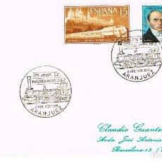 Sellos: AÑO 1976, ARANJUEZ (MADRID), 125 ANIVERSARIO DEL FERROCARRIL MADRID-ARANJUEZ. Lote 154180054