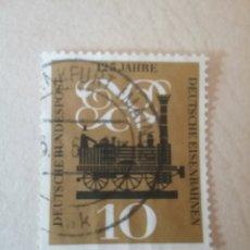 Timbres: SELLOS ALEMANIA, R. FEDERAL MTDOS/1960/125 ANIV. DE LOS FERROCARRILES ALEMANES/TRENES/LOCOMOTORA. Lote 154846984