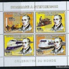 Sellos: CONGO 2006 1717/20 *** HOMENAJE A STEPHENSON - TRENES. Lote 155840418