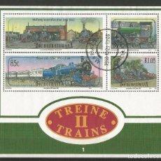 Timbres: BOPHUTHATSWANA 1993 - TRENES - BLOQUE - VISIT MIS OTROS LOTES Y AHORRA GASTOS DE ENVÍO. Lote 156554182