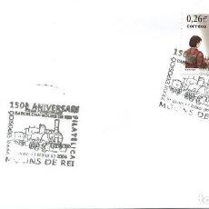 Sellos: 2004. MOLINS DE REI. MATASELLOS/POSTMARK. 150 ANIV. FERROCARRIL. TREN/TRAINS. TRANSPORTE/TRANSPORT.. Lote 157694690