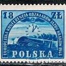 Sellos: POLONIA Nº 476, CONFERENCIA EUROPEA PROGRAMACIÓN FERROVIARIA, CRACOVIA, 1948 (HORARIOS), NUEVO ***. Lote 160005922